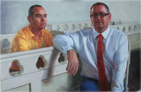 """""""The Ecclesiologist"""". Private Collection. Oil on Canvas(30x45ins)"""