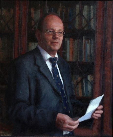 Mr Tim Wilbur Headmaster of Rossall School. Oil on Canvas(40x30ins)
