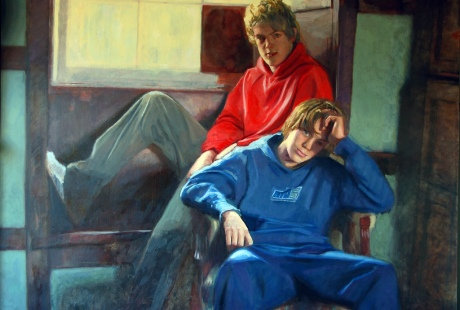 """The Boys from Penpont"".Private Collection. Oil on Canvas(45x60ins)"