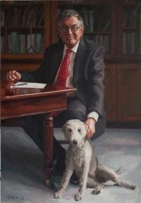 Commission for Rossall School, retiring headmaster Dr Stephen Winkley. Oil on canvas.