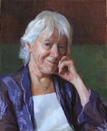 Dr Ann Rhys. Oil on canvas 16x20ins