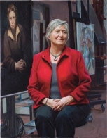 Elisabeth Elias, Past President National Museum of Wales 36x28ins oil on canvas